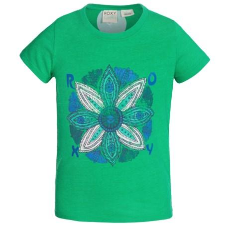 Roxy Medallion T-Shirt - Short Sleeve (For Girls)