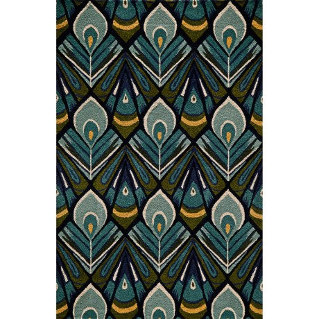 Momeni Habitat Peacock Wool Blend Area Rug - 8x10'