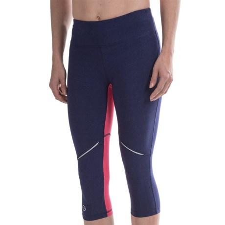 tasc Surprise Stripe Capri Leggings - Organic Cotton Blend, UPF 50+ (For Women)