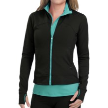 Yuj Yoga Jacket (For Women) in Black/Turquoise - Closeouts