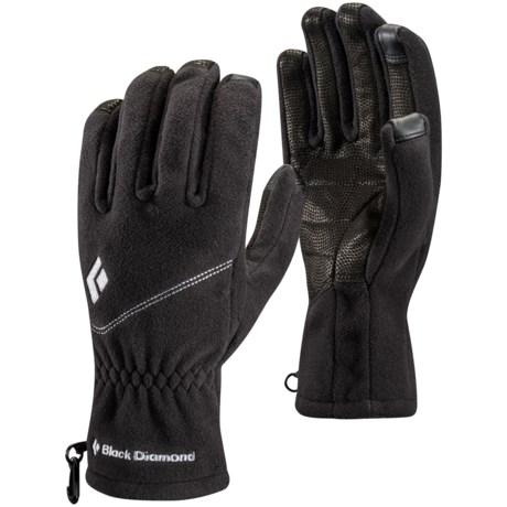 Black Diamond Equipment Windweight Polartec® Windbloc® Fleece Gloves - Touchscreen Compatible (For Men)
