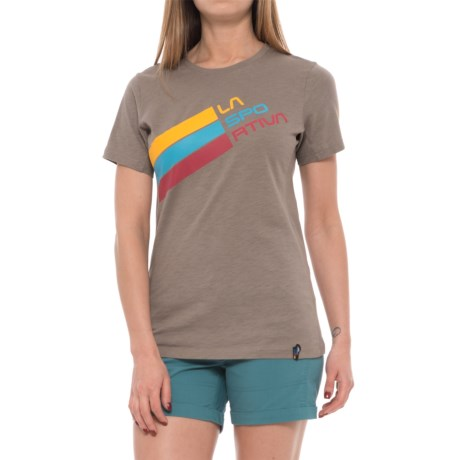 La Sportiva Stripe Logo T-Shirt - Short Sleeve (For Women)