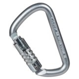 C.A.M.P. USA 3-Lock Steel Carabiner - D-Shaped