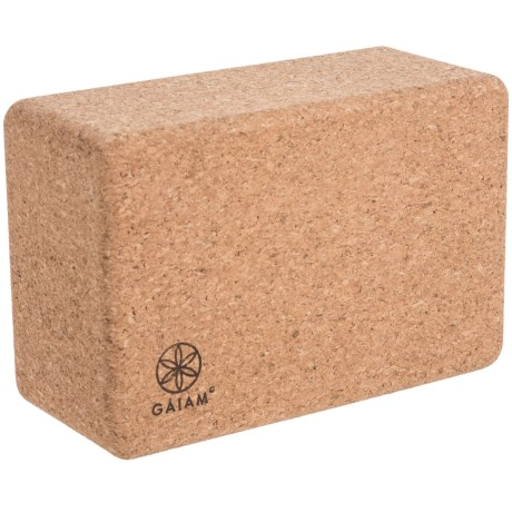 "Gaiam Studio Select Cork Yoga Block - 9x6x4"""