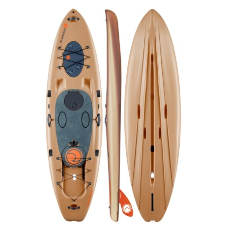 """Imagine Surf Angler Fishing Stand-Up Paddle Board with Paddle - 11'x35"""""""