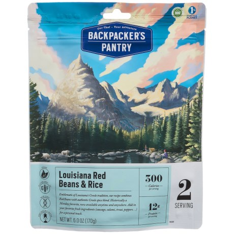 Backpacker's Pantry Louisiana Red Beans and Rice - 2 Servings