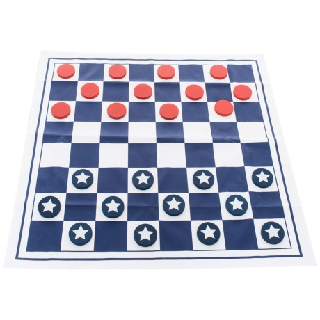 Professor Puzzle Americana Giant Checkers Game in Red/White/Blue