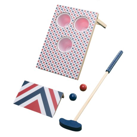 Professor Puzzle Americana Putt-It Pong Game in Red/White/Blue