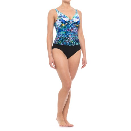 Profile by Gottex Floral One-Piece Swimsuit - Underwire, Removable Padded Cups (For Women) in Multi