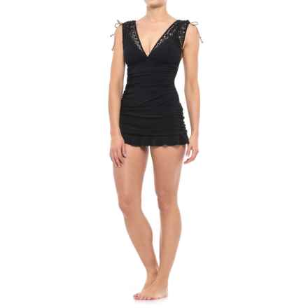 Profile by Gottex Kenya Skirted One-Piece Swimsuit - Built-In Bra (For Women) in Black - Closeouts