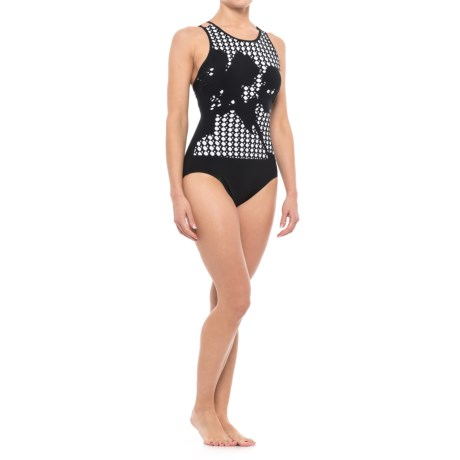 Profile by Gottex Rambling Rose One-Piece Swimsuit - Padded Cups (For Women) in Black
