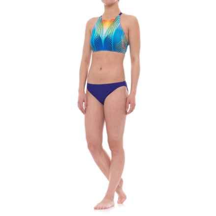 Profile Sports by Gottex High Neck Strappy Back Bikini Set - UPF 50+ (For Women) in Multi/Blue - Closeouts