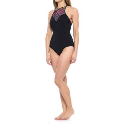 Profile Sports by Gottex Illuminate High-Neck One-Piece Swimsuit - UPF 50+ (For Women) in Multi - Closeouts