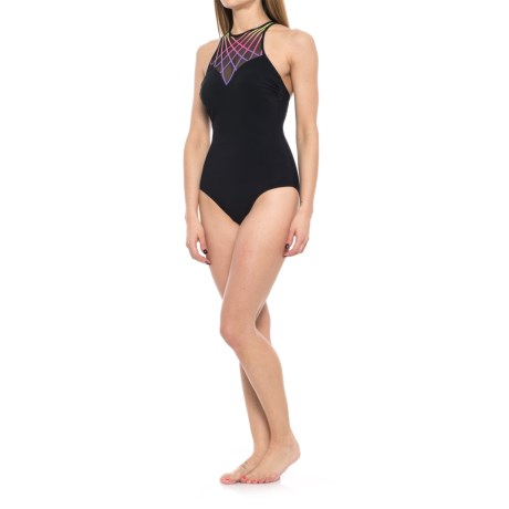 Profile Sports by Gottex Illuminate High-Neck One-Piece Swimsuit - UPF 50+ (For Women) in Multi