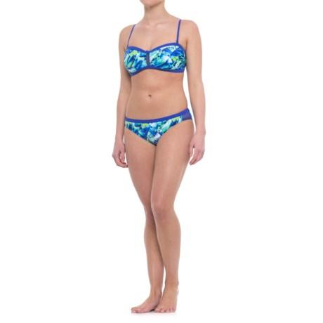 Profile Sports by Gottex Pacific Bandeau Bikini Set - UPF 50+ (For Women) in Blue Multi