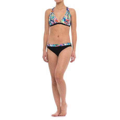 Profile Sports by Gottex Plunge Bikini Set - UPF 50+ (For Women) in Rainbow Multi/Black