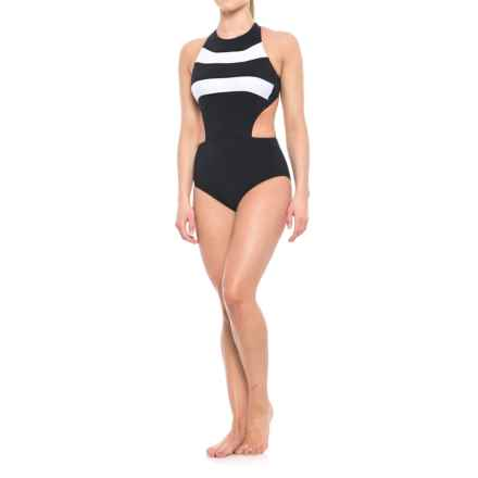 Profile Sports by Gottex Powerline One-Piece Swimsuit - UPF 50+ (For Women) in Black/White - Closeouts
