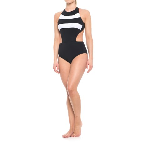 Profile Sports by Gottex Powerline One-Piece Swimsuit - UPF 50+ (For Women) in Black/White