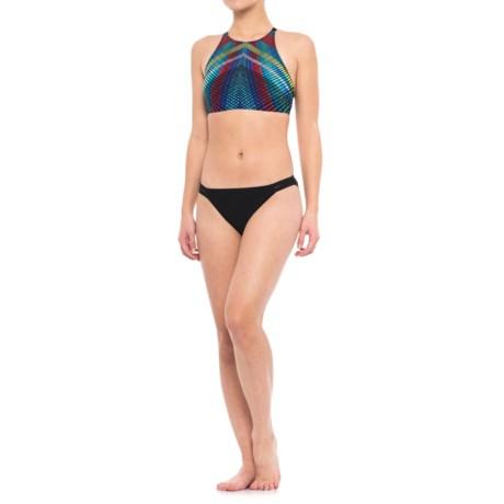 Profile Sports by Gottex Strappy High-Neck Bikini Set - UPF 50+ (For Women) in Prism Print