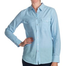Project Brand Alix Shirt - Cotton, Long Sleeve (For Women) in Powder Blue - Closeouts