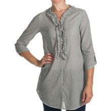Project Brand Jackie Tunic Shirt - Elbow Sleeve (For Women) in Black - Closeouts