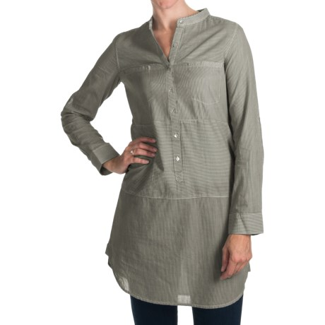 Project Brand Kelley Tunic Shirt - Cotton, Roll-Up Long Sleeve (For Women) in Black