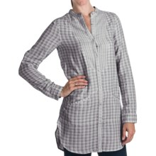 Project Brand Natalie Tunic Shirt - Long Roll Sleeve (For Women) in Grey - Closeouts