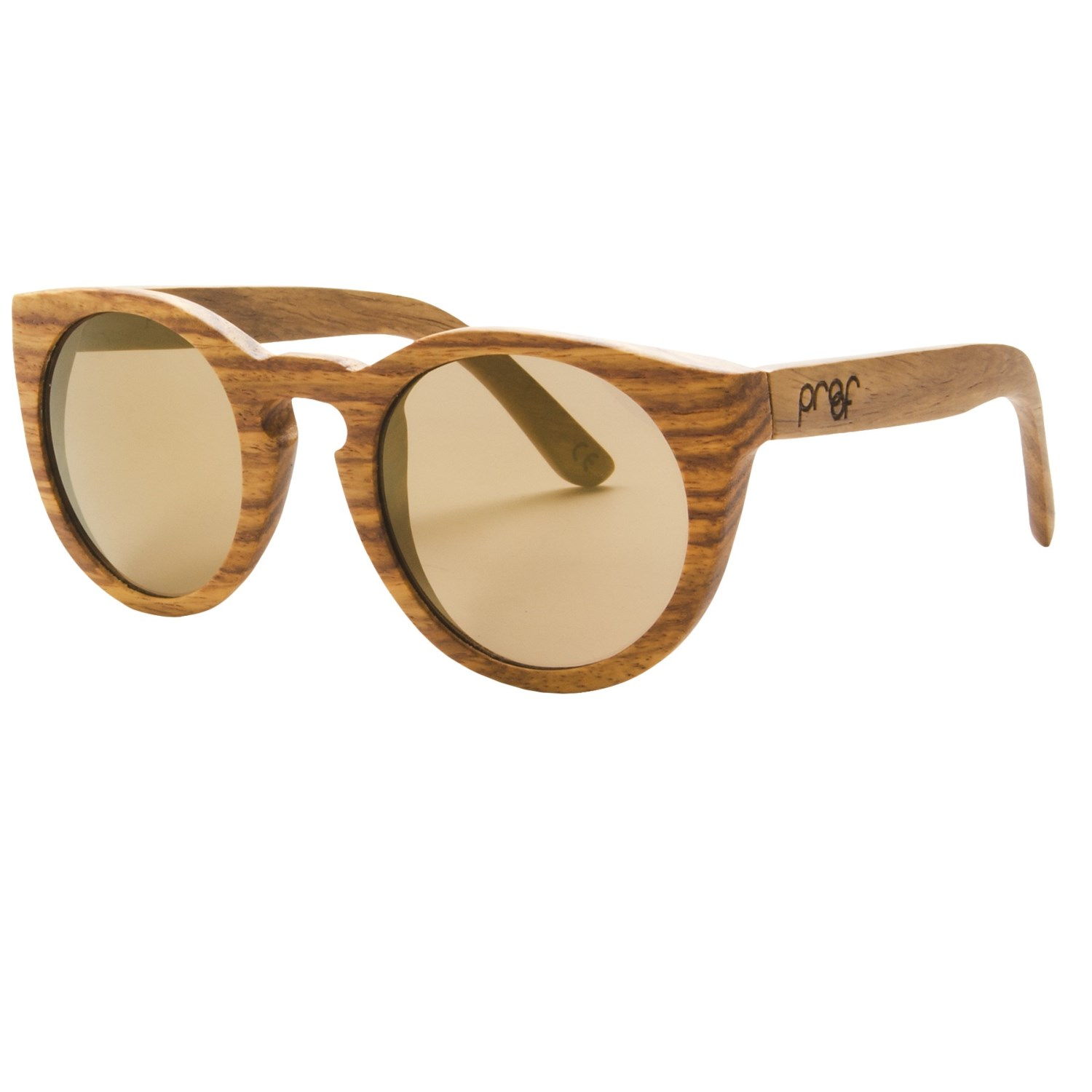 Proof Eyewear Bogus Sunglasses - Wood Frame, Gold Lenses ...