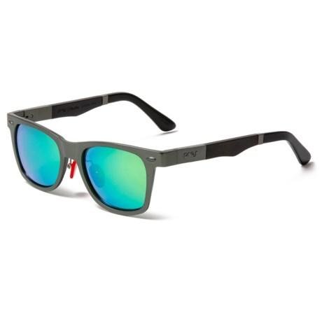 8dcc4e5934 Proof Eyewear Challis Aluminum Mirror Sunglasses - Polarized in Gunmetal Sky