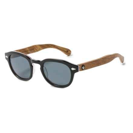 Proof Eyewear Chaplin Eco Sunglasses - Polarized in Black/Gray - Overstock