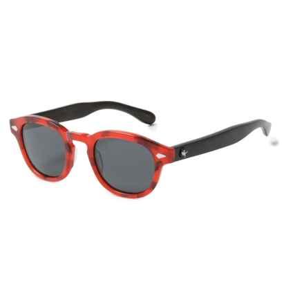 Proof Eyewear Chaplin Eco Sunglasses - Polarized in Red Tortoise/Gray - Overstock