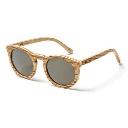 Proof Eyewear Hayburn Sunglasses in Zebra/Gold/Wood - Closeouts