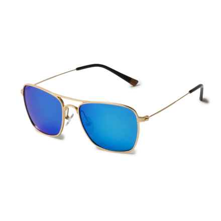 Proof Eyewear Overland Sunglasses - Polarized in Gold/Sky Blue Mirror - Overstock