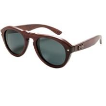 Proof Eyewear Prospector Sunglasses - Wood Frame in Mahogany - Closeouts