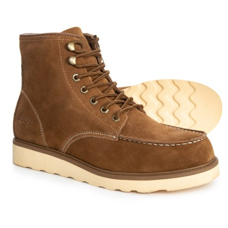 Prospect Boots - Insulated, Leather (For Men) - BROWN/CREAM (8 )