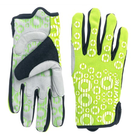 Pryme Strange Cycling Gloves in Lime Green/White