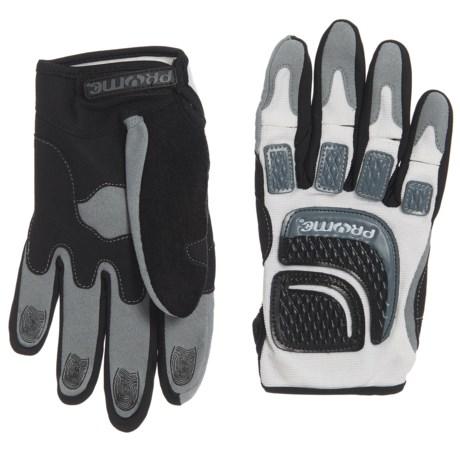 Pryme Suspect Bike Gloves in White