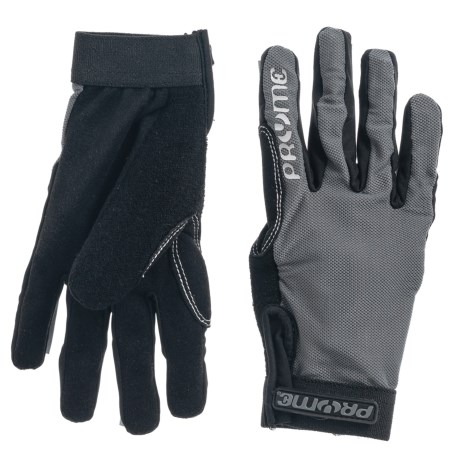 Pryme Trailhands Thin Bike Gloves in Gray