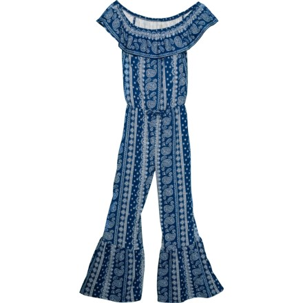 762154a791 PS by Aero Paisley Print Jumper - Sleeveless (For Big Girls) in Estate Blue