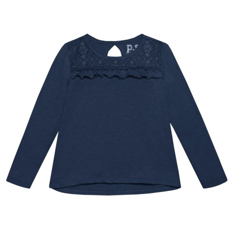 P.S. from Aeropostale Floral Lace Shirt - Long Sleeve (For Big Girls)