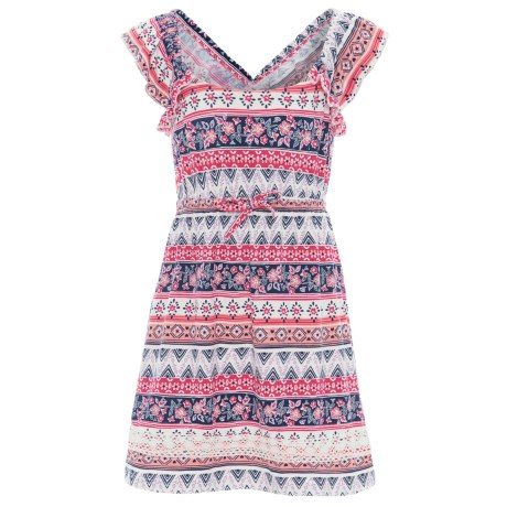 P.S. from Aeropostale Knit Dress - Sleeveless (For Little Girls) in Coral