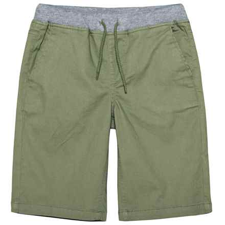 P.S. from Aeropostale Stretch Twill Shorts (For Big Boys) in Olive - Closeouts