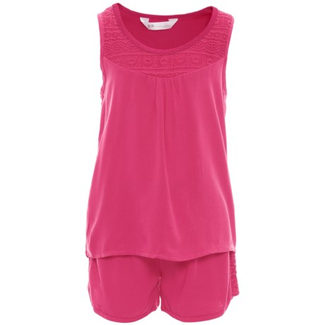 P.S. from Aeropostale Tank Top and Shorts Set (For Big Girls) in Pink