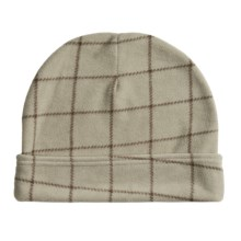 PT Sportswear Plaid Fleece Beanie Hat with Fold - Plaid (For Men and Women) in Light Taupe - Closeouts