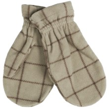 PT Sportswear Plaid Fleece Mittens (For Women and Youth) in Tan/Brown Windowpane - Closeouts