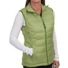 Puffer Down Vest - Zip Front (For Women) in Light Green - 2nds