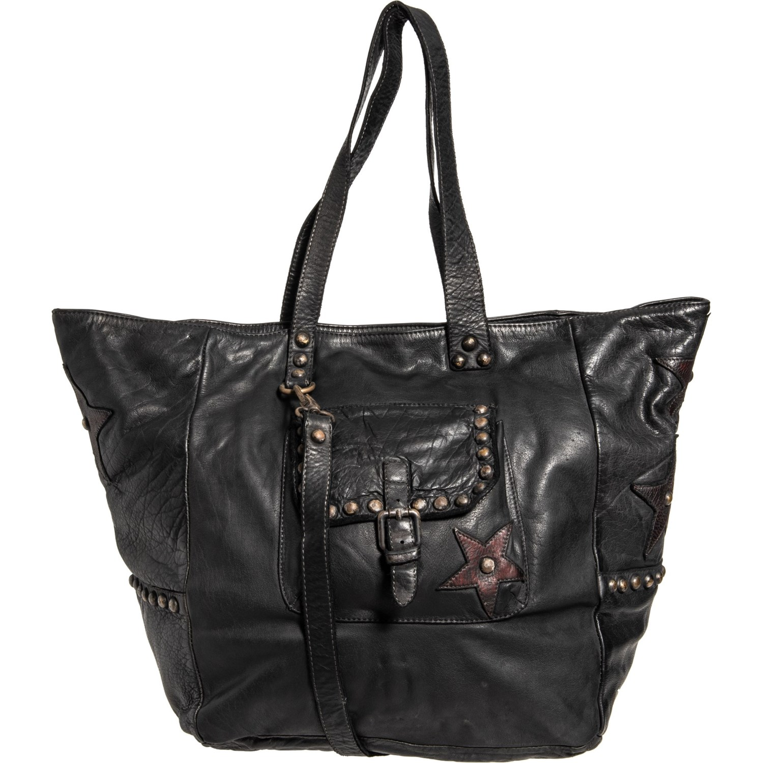 5062c3cadd9e Pulicati Made in Italy Front Pocket Large Tote Bag (For Women ...