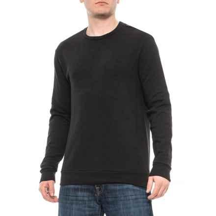 Pull&Bear Crew Sweatshirt - Long Sleeve (For Men) in Black