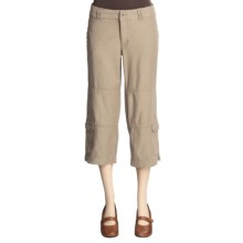 Pulp Cargo Crop Pants (For Women) in Khaki - Closeouts
