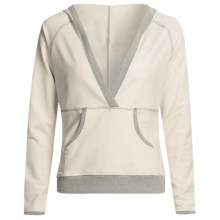 Pulp Crossover Hoodie Sweatshirt - Stretch, Long Sleeve (For Women) in Off White - Closeouts